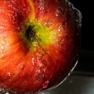 Wet apple